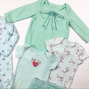 Little Me Matching Sets - Bundle of 3 Months Baby Girl clothes Cat & Jack
